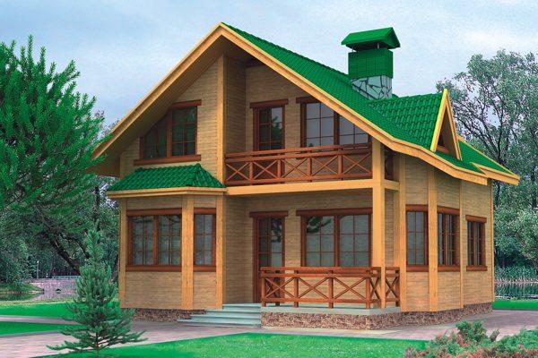 Проекция готового дома из бруса