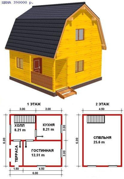 Профессиональный проект брусчатого дома.