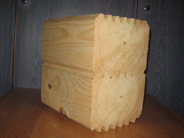 Профилированный брус изготавливается из цельной древесины, без стыковки и склейки