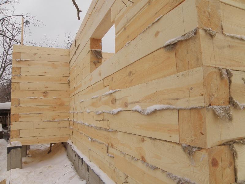 Сборка домов из бруса своими руками видео