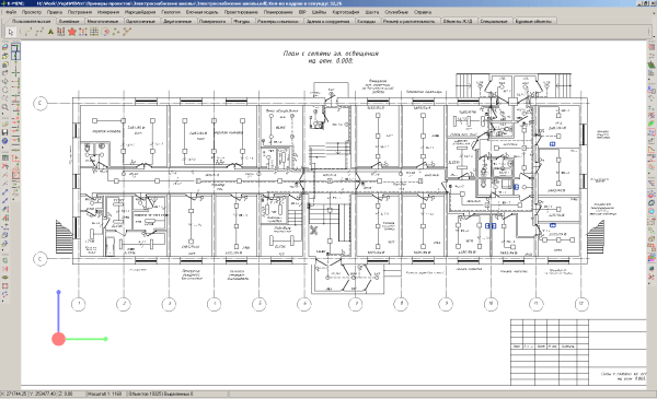 Схема организации систем освещения в доме