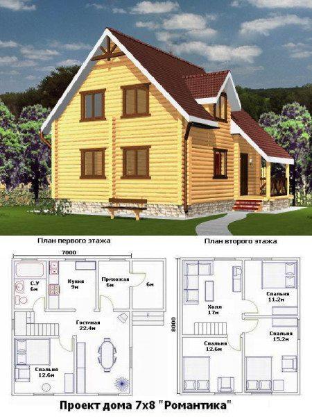 Схема постройки 7х8