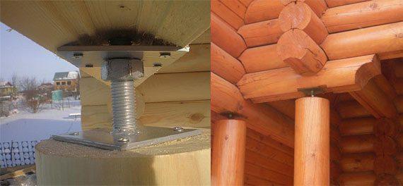 Схемы применения усадочного домкрата