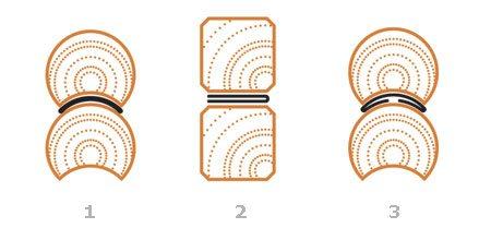 Схемы укладки утеплителя для бруса и бревна