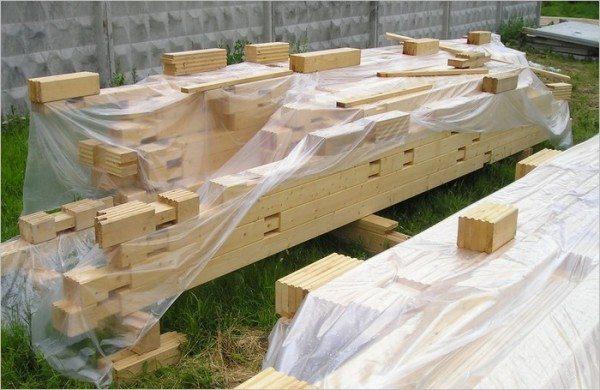 Складирование продукта на строительном участке