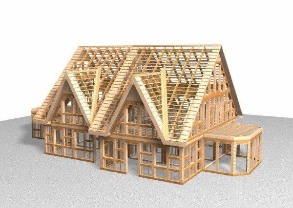 Современные материалы на основе клееной древесины позволяют строить каркас дома из бруса своими руками.