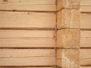 Стена из непрофилированных балок
