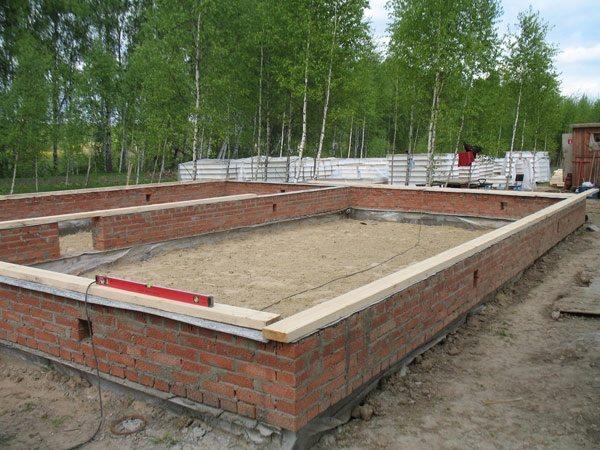 Строительство основания под брусовый дом