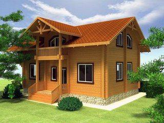Типовой проект дома из бруса