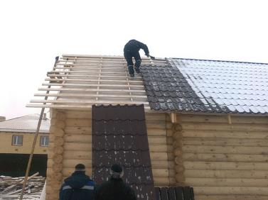 Возведение двухскатной крыши