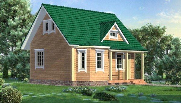 Загородный брусовой дом – экологично и безопасно, красиво и надежно!