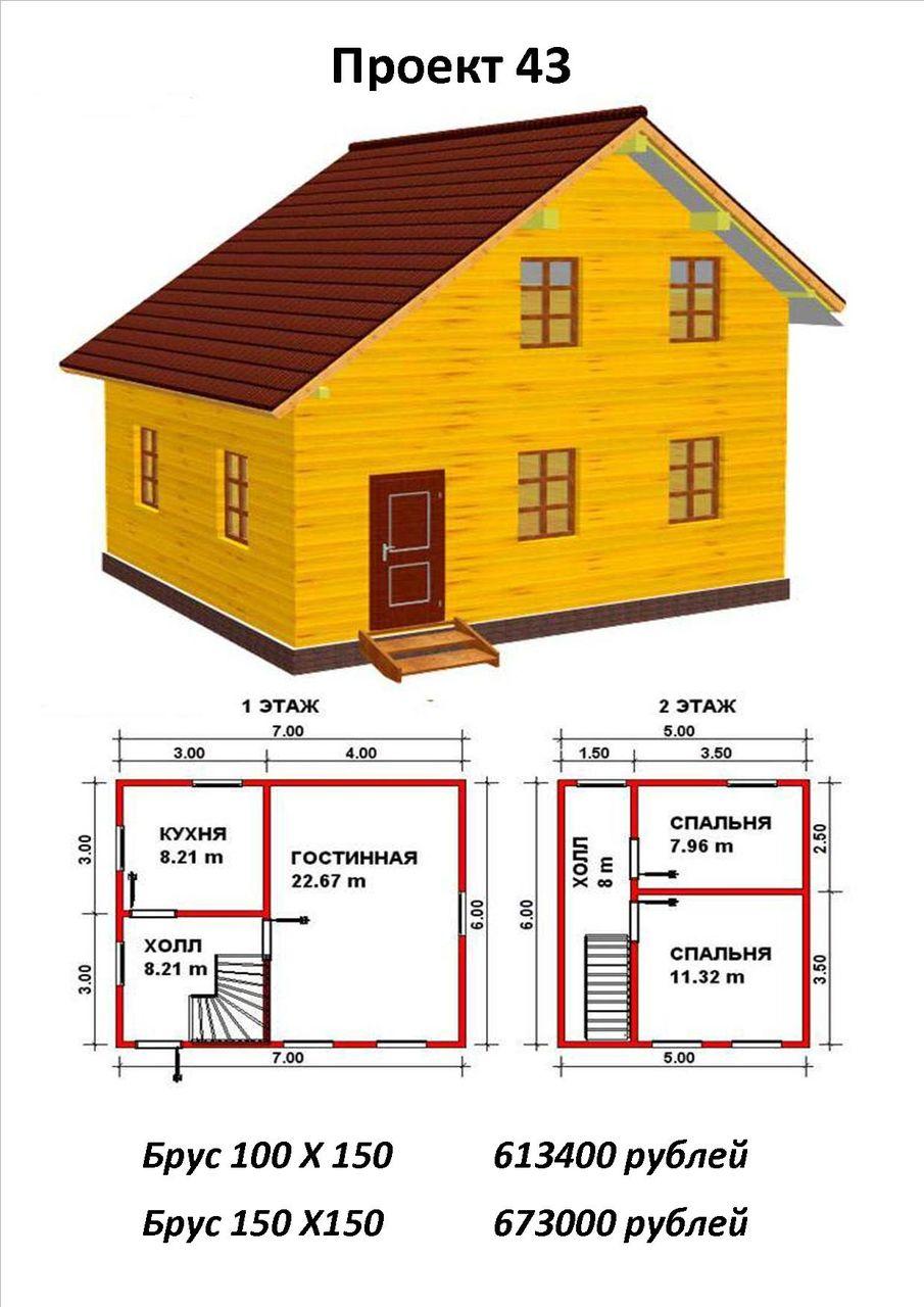 Как построить дом из бруса 150х150 проекты