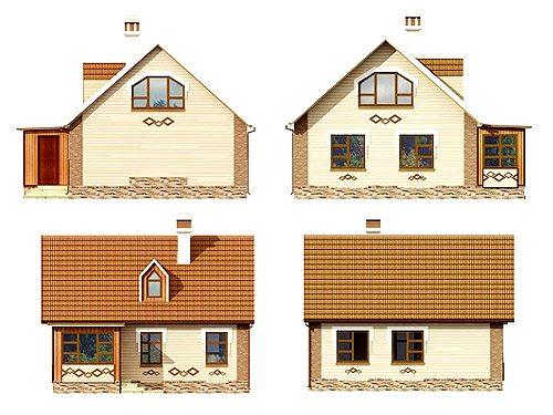 Желательно отобразить дом во всех ракурсах.