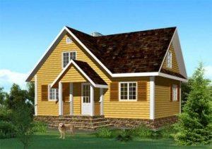 Жилой брусовый дом - безопасно, надежно, красиво.