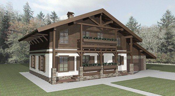 3D макет дома в альпийском стиле
