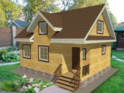 3D проект дома с мансардой