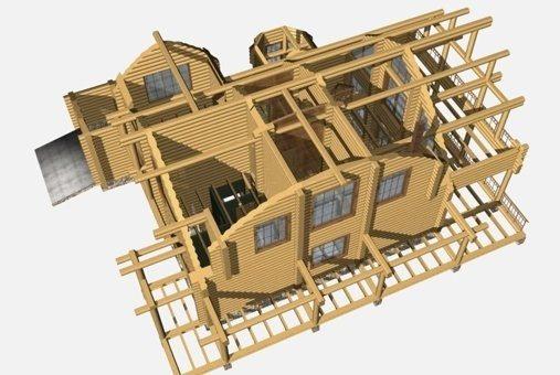 Архитектурная визуализация сруба.