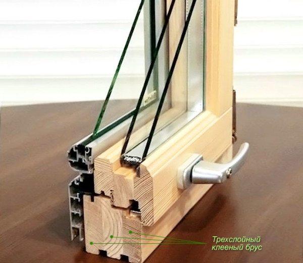 Брус для оконных конструкций чаще всего делается из трех слоев-ламелей