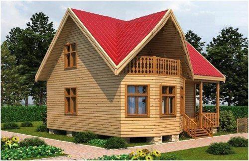 Брусовой дом 7х7 метров – нет необходимости во внешней отделке