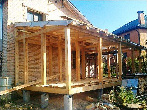 Деревянная терраса из бруса своими руками фото 337