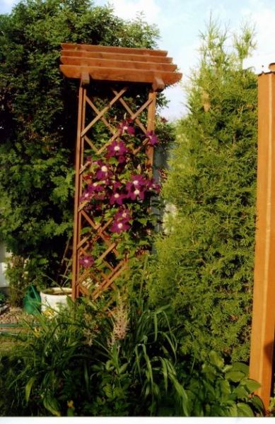 Декоративная арка для цветов