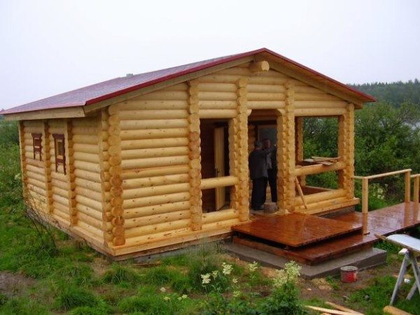 Для маленького дома крыша может быть и пологой.