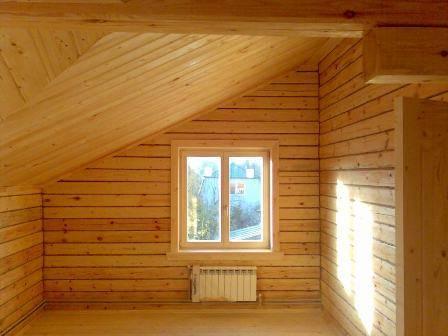 Дом из бруса изнутри