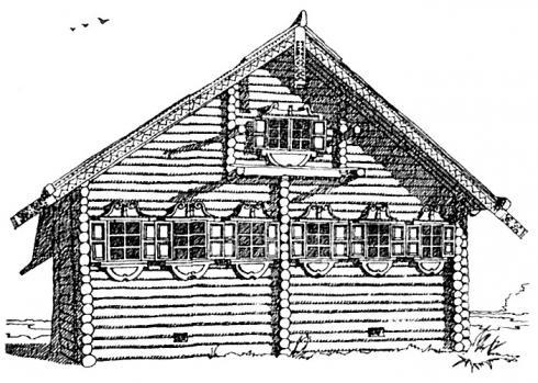 Дом с самцовой кровлей, ХIХ век.