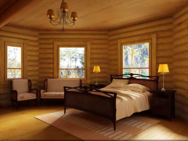 Элегантная спальня в стиле эко
