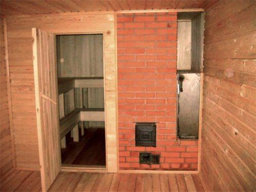 Если пространство позволяет, то печь обкладывается кирпичом, чтобы материал нагревался и выполнял в дальнейшем роль аккумулятора тепла