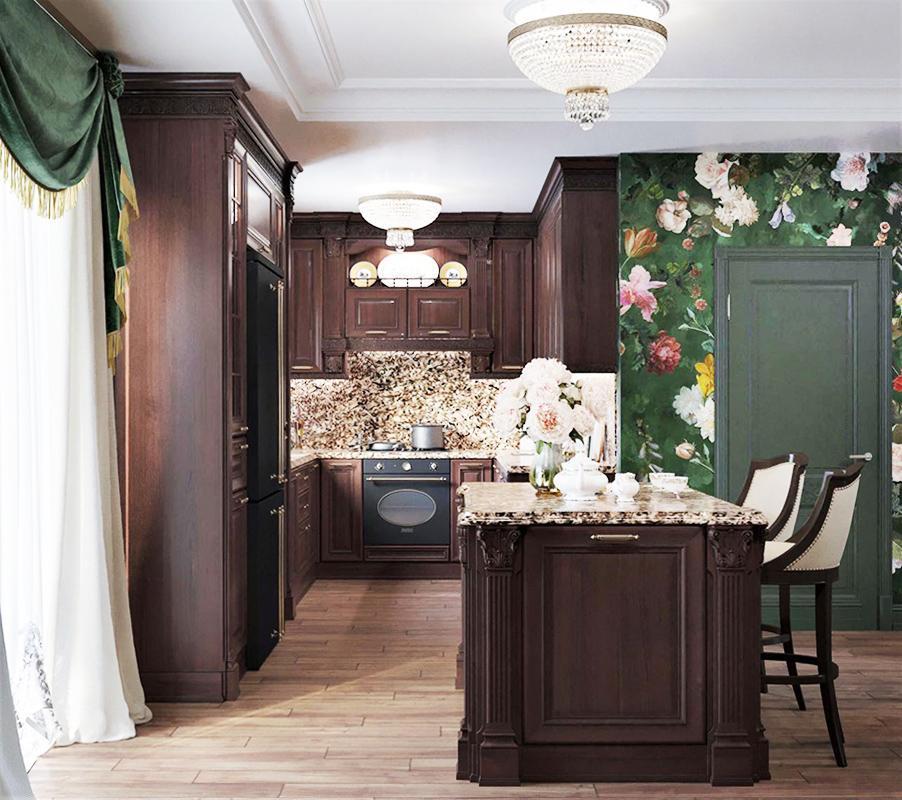 Отремонтированная кухня в Подмосковном доме Ларисы Гузеевой