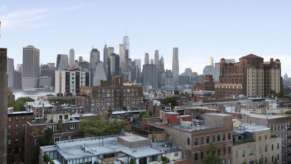 Вид на город с террасы