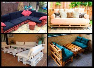 Идеи для изготовления диванов из поддонов