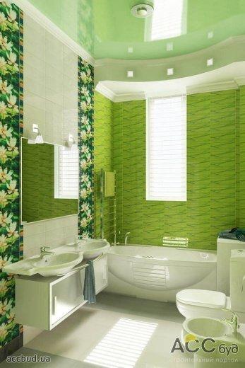 Натяжной потолок в маленькой ванной комнате