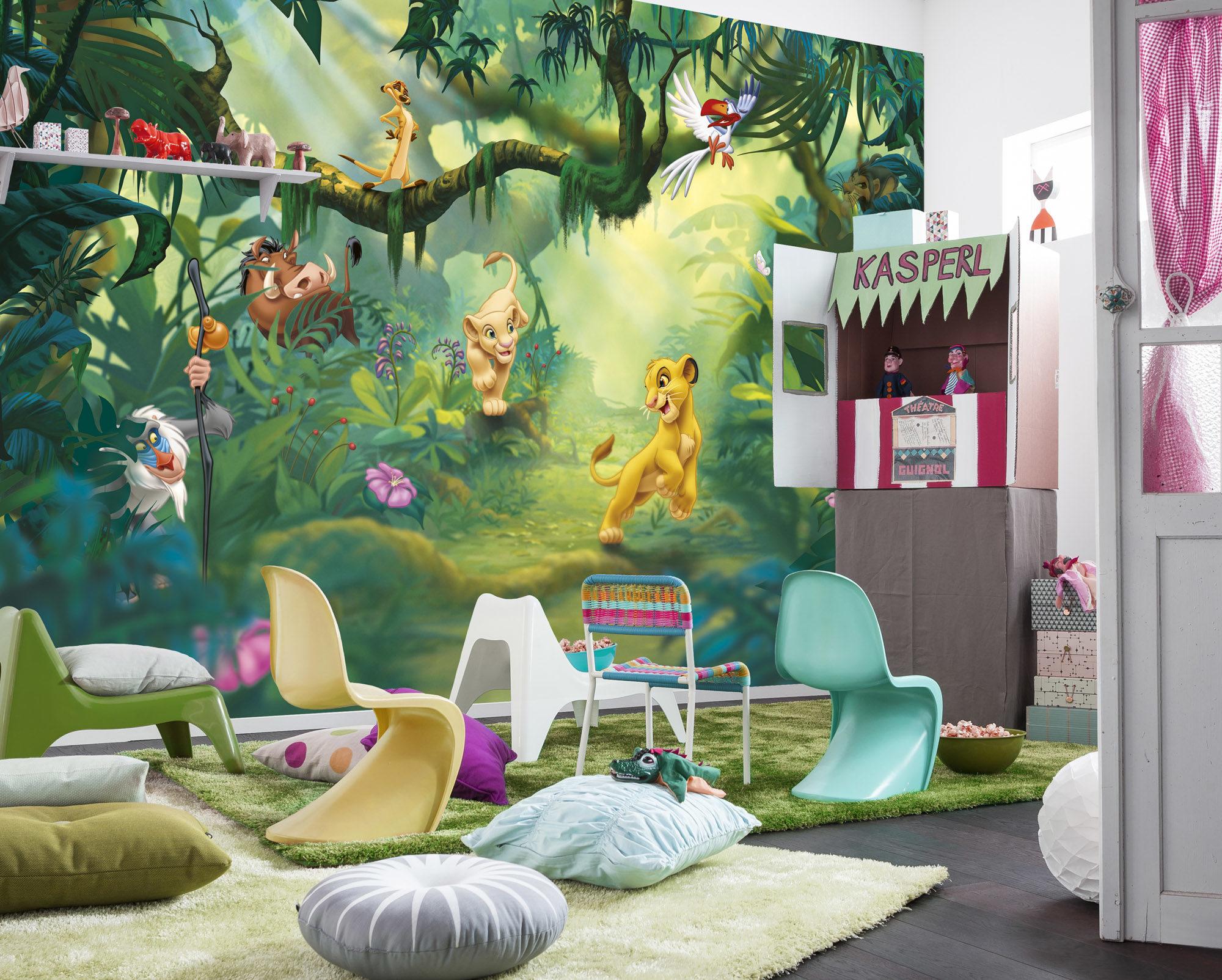 Бумажные фотообои в интерьере детской комнаты