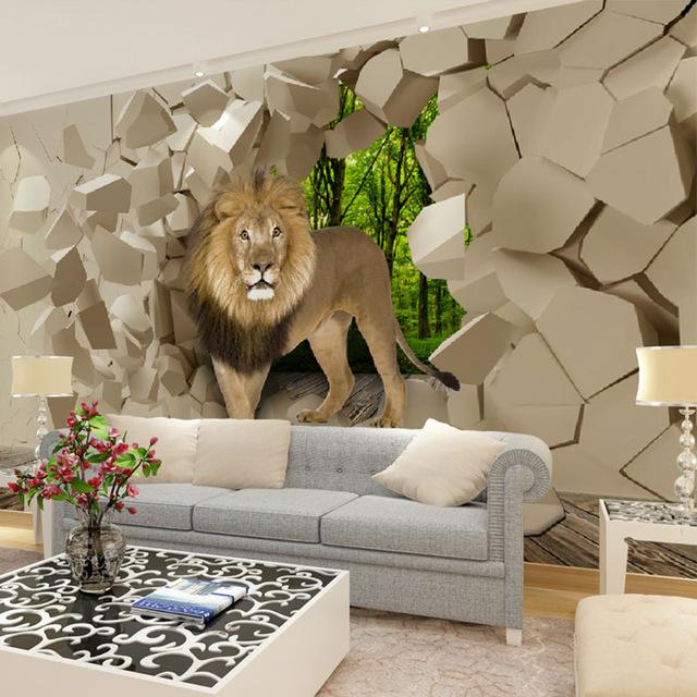 3D обои Лев