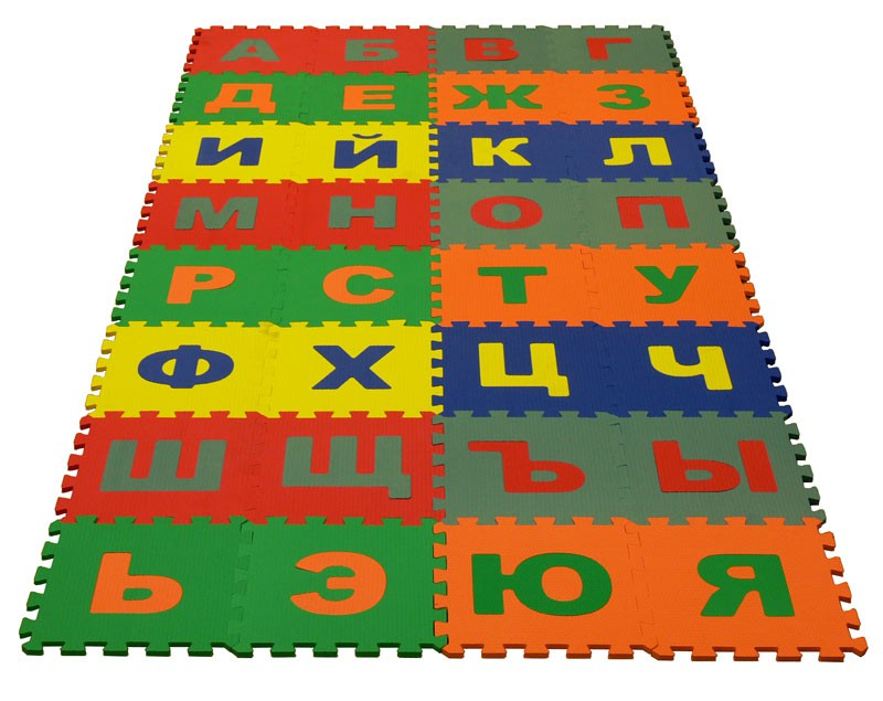 Мягкий пол с алфавитом