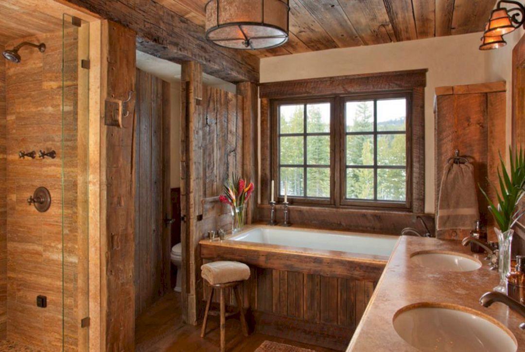 Ванная в бане – такой эффект складывает от такой комнаты.
