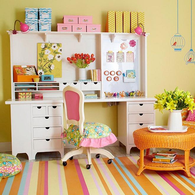 Обустройство места для интеллектуального отдыха – очень важная часть детской комнаты