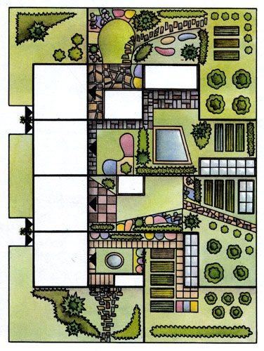 Фото – план участка на две семьи.