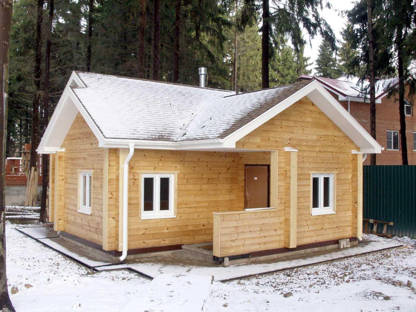 Как из бруса построить баню прочную и теплую красивую и комфортную