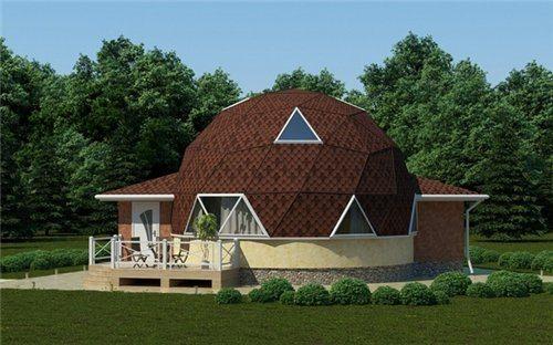 Фото дома с купольной крышей