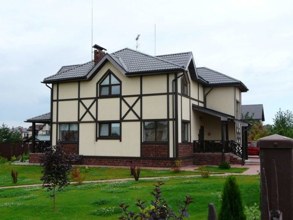 Фото каркасного дома.