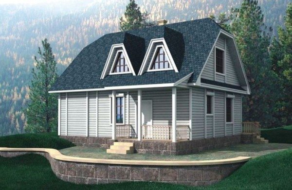 Фото красивого дома из бруса 8*10