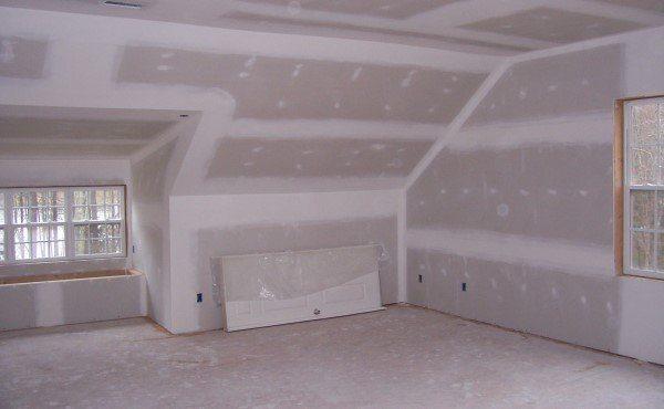 Фото стен, обшитых гипсокартоном
