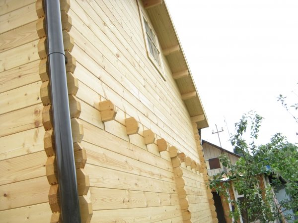 Фото стены дома, собранного по описанной технологии
