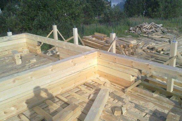 Фото строительной площадки брусового дома