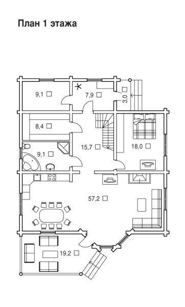 Готовый план деревянной постройки позволяет высчитать количество материала с высокой точностью.