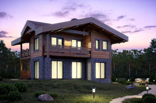Гибридный деревянный дом — это совмещение нескольких технологий и материалов