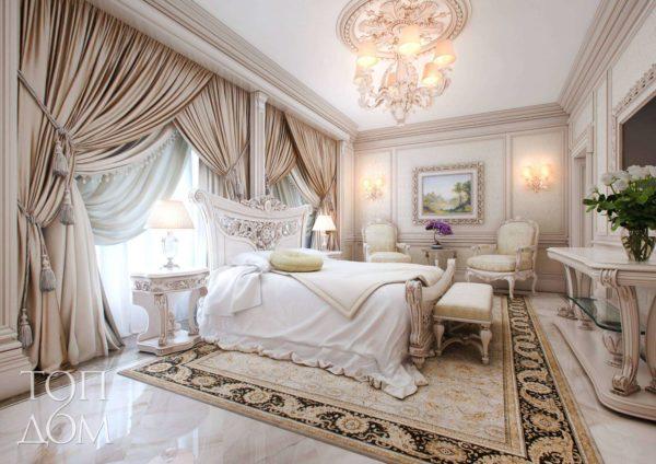 Роскошные шторы в спальне